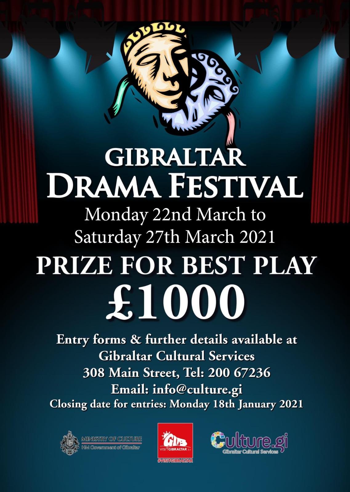 GIbraltar Drama Festival Poster Image