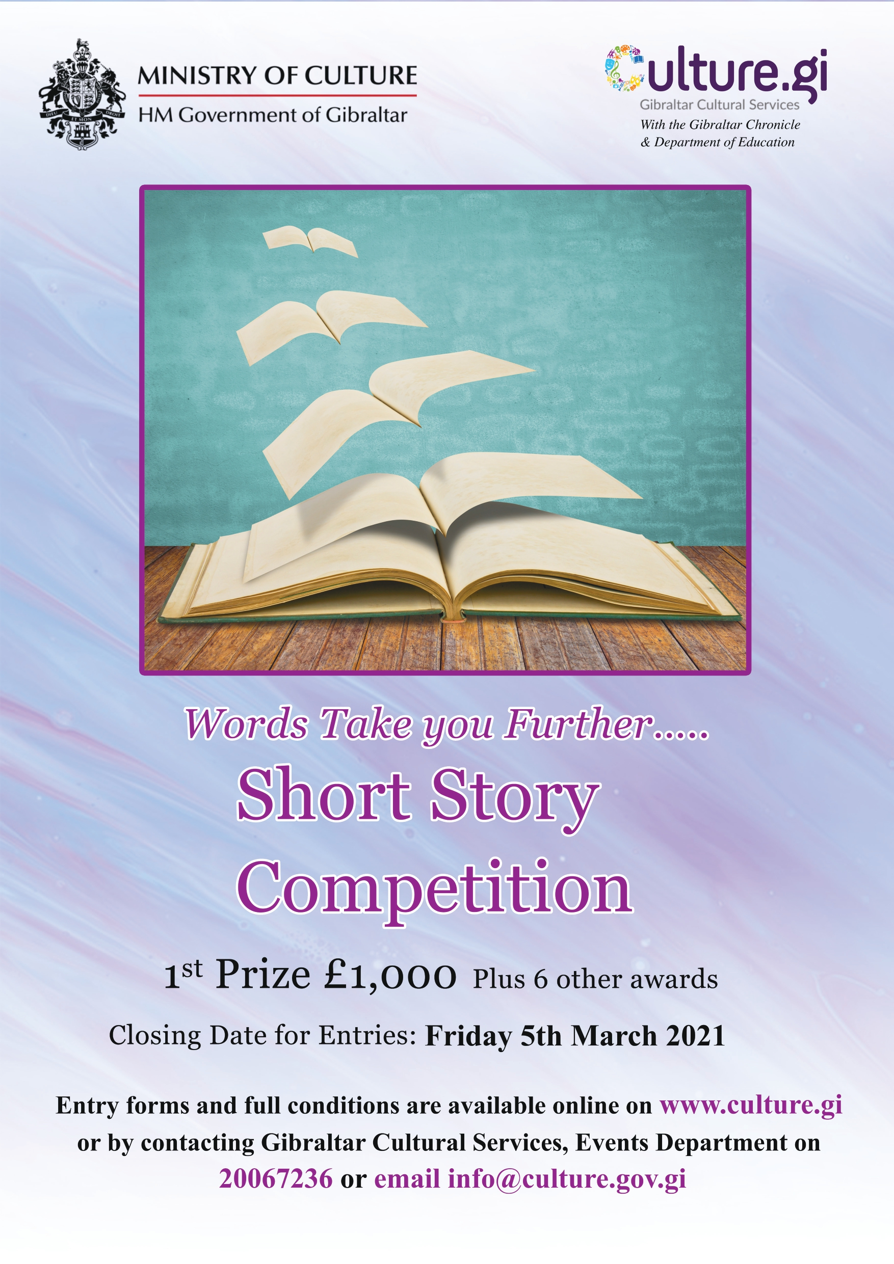 Gibraltar Spring Festival 2021 - Short Story Competition Image